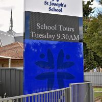 Client: St Joseph's SchoolDesign:Signage: Trio sign solutions